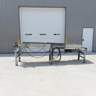 """140"""" Slider Bed 18"""" Wide Belt Conveyor 31.5 FPM 115V Single Phase"""