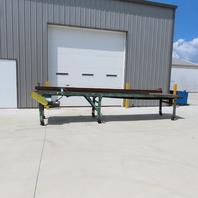 """200"""" Slider Bed Belt Conveyor 18"""" Bed 24.5 FPM 208-230/460V 3Ph"""