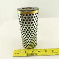 """Pleated Stainless Steel Suction Strainer Filter 1-7/16"""" ID X 2-5/8"""" OD x 6"""""""