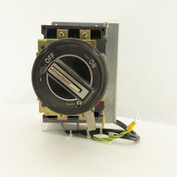 Fuji BU3FHC-020L 600VAC 20A 3 Pole Circuit Breaker Panel Operator Disconnect