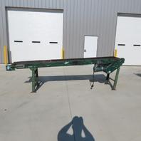 """130"""" Slider Bed Belt Conveyor 18"""" Bed 31 FPM 208-230/460"""