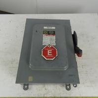 Square D HU662AWK Non-Fusible Safety Disconnect Switch 6 Pole 60A 600V NEMA 3R