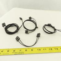 Fanuc A66L-6001-0023 L150R0 L1R003 L2R003 Fiber Optic Cables Lot Of 4
