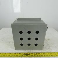 """Wiegmann B121206CHWW Steel Wall Mount Electrical Enclosure 12""""x12""""x6"""""""