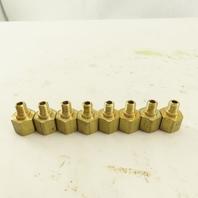 "Morton M6 Male x 1/8"" Female NPT Brass Straight Adaptor Fitting Lot Of 8"