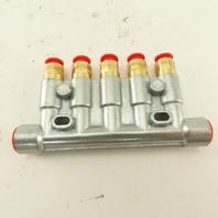 Bijur Delimon ZEM 345 Pneumatic Lubricator Injector 5 Way Manifold M8x1 Ports