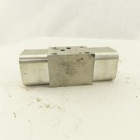 Sun Hydraulics EBY 1AC2-AC ISO 03 Sandwich Manifold On A, B Cross Pilot