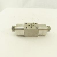 Sun Hydraulics EBY 1AC2-AC ISO 03 Sandwich Manifold On A, B Cross Pilot W/ Check