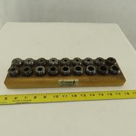 "Techniks SYIC 04212(SET) ER32 Precision English Collet Set 11 Piece 3/16-3/4"""