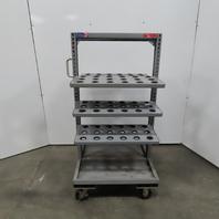 STOR-LOC 108 Slot CAT40 Tool Holder Storage Cart 6 Adjustable Shelves W/Casters