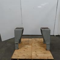 Vintage Industrial Steampunk Antique Cast Iron Machine Base Table Legs  Set of 2