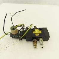 Parker B5G1ACH53C 2 Position Solenoid Pneumatic Directional Valve 120V