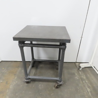 """1"""" Cast Iron Webbed Machined Top Machine Base Welding Table 28""""x24""""x38"""""""