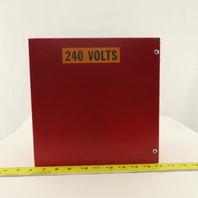 "10 x 10 x 4"" Electrical J-Box Enclosure W/ Back Plate"