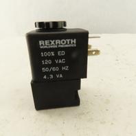 Rexroth 120V Ceram Series Solenoid Coil 4.3VA 10 Bar