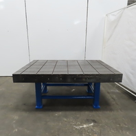 """70""""x 50""""x 31"""" Cast Iron Webbed Slotted Layout Inspection Assembly Table Bench"""