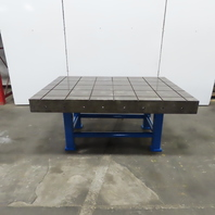 """70x50x 31-1/2""""  Cast Iron Webbed Slotted Layout Inspection Assembly Table Bench"""