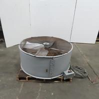 "TPI 48"" Belt Drive Portable Blower Drum Fan 208  3Ph"
