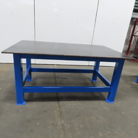 """3/4"""" Thick Top Steel Fabrication Welding Layout Table Work Bench 78""""Lx48""""Wx36""""H"""