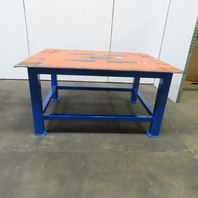 """3/8"""" Thick Top Steel Fabrication Welding Layout Table Work Bench 72""""Lx56""""Wx36""""H"""