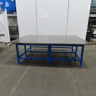 """1"""" Ground Top Steel Fabrication Layout Welding Table Work Bench 98x70x32""""High"""