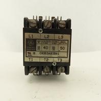 General Electric CR353AD3BA1 600V 40A 3 Pole Contactor 120V Coil