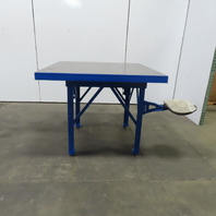 """2-3/4"""" Thick Solid Steel Top Fabrication Welding Layout Work Table 50Lx50Wx41""""H"""
