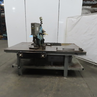 """BTM 4000-34808 3"""" Stroke Pneumatic Air powered Toggle/Punch Press W/Table"""