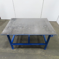 """1/2"""" Thick Top Steel Fabrication Welding Table Work Bench 59-5/8""""Lx40""""Wx36""""H"""