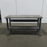 """60""""L x 28""""W x 34""""H 11 Gauge Steel Fabrication Welding Table Work Bench W/Shelf"""