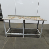 """3/8"""" Thick Top Steel Fabrication Welding Layout Table Work Bench 72""""x30""""x35"""""""