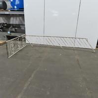 Vintage Wrought Iron Handrail Stair Porch Railing 2Pc Set