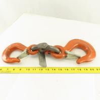 "CM Herc-Alloy 1/2"" x 3/8"" Linked Chain Hook Adaptor Hammerlok Certified 7100 WLL"