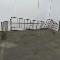 Vintage Wrought Iron Handrail Stair Porch Railing 3Pc Set