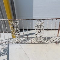 Vintage Wrought Iron Handrail Stair Porch Railing W/Rose Pattern 3Pc Set
