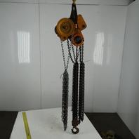 Harrington G-NTH707 2 Ton Manual Chain Fall Hoist 25' Lift W/Chain Wheel Trolley