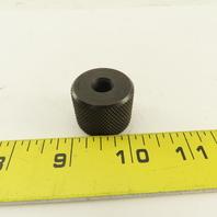"3/8""-24 Threaded Knurled Thumb Nut 1-1/8"" OD x 7/8"" Wide Black Oxide"
