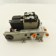 SMC NVFS2100-5FZB 2 Position Solenoid Valve Manifold Assembly 24VDC