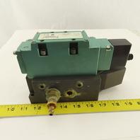 Numatics 123BA400K 2 Position Single Solenoid Air Valve Manifold 120V Coil