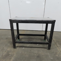 """3/4"""" Thick Aluminum Top Steel Fabrication Welding Table Work Bench 47""""Lx23""""Wx37H"""