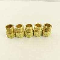 "Western Enterprise 5/8""-18 Left Hand Thread Brass Inert Gas Arc Nut Lot Of 5"