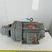 Delco 4G3901BMY 2 Speed Electric Motor 3/1Hp 1770/585 RPM 254UY 480V 3Ph W/Brake