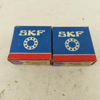 SKF 5305 A/C3 25mm ID x 62mm OD Double Row Angular Contact Bearing Lot Of 2