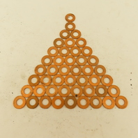 """1/2"""" Flat Copper Washer 15/16"""" OD 1/16"""" Thick Lot Of 46"""