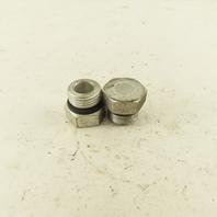 3/4-16 O-Ring Seat Hydraulic Steel Plug Lot Of 2