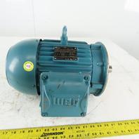 WEG 5Hp Inverter/Severe Duty Electric Motor 1755RPM 208-230/460V 3Ph  184TC Fr.