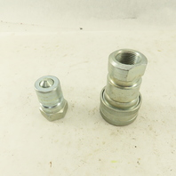 """Parker Series 60 1"""" FNPT Quick Disconnect Hydraulic Hose Fittings 1 Set of 2"""
