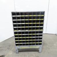 "Kimball Midwest Small Parts 80 Bin Shelf Storage Unit 35-1/4""Wx11-7/8""Dx55""H"
