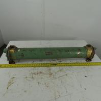 "American Standard  Brass Shell & Tube Heat Exchanger 5"" x 36"" 1-1/2"" NPT"