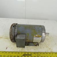 Baldor M3559T 3Hp AC Electric Motor 145T Frame 208/460V 3Ph 3450RPM